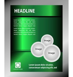 Green Flyer template design vector