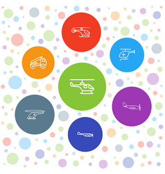 Helicopter icons vector