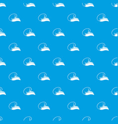 High sea wave with foam pattern seamless vector