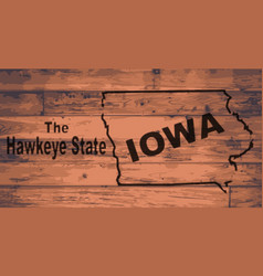 iowa map brand vector image