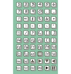 Keyboard symbol vector