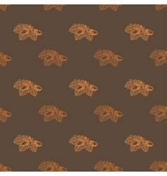 Leaf Skeleton with acorn pattern vector image