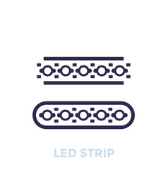 Led stripes icon vector