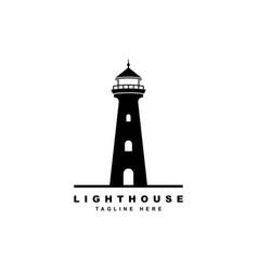 lighthouse logo design template vector image