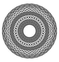 Mandala in esoteric style Set of isolated rings of vector