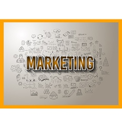 Marketing Concept with Doodle design style vector image vector image