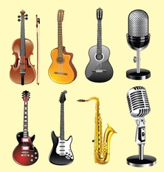 musicali nstruments vector image