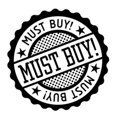 Must buy black and white badge vector