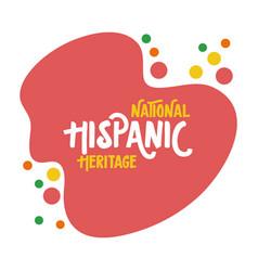 National hispanic heritage lettering flat style vector