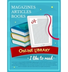 Online library design vector