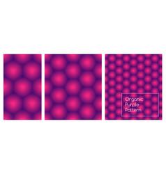 organic purple seamless pattern set honeycomb vector image