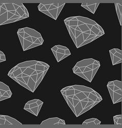 Pattern grayscale diamonds vector