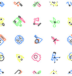 pattern of creative icons with colorful fill vector image