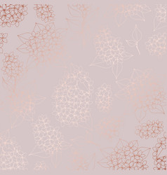 pattern with a lilac with imitation of rose gold vector image