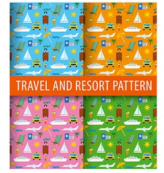patterns of resort vector image vector image