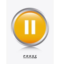 Pause design vector