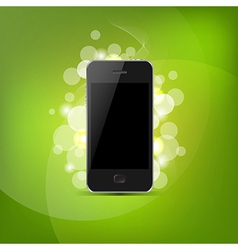 Phone And Green Bokeh vector image