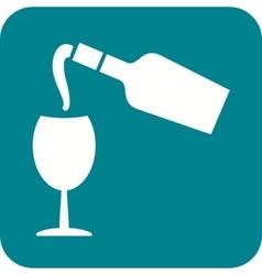 Pour Wine vector