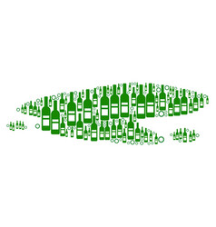 Puddle mosaic of wine bottles vector