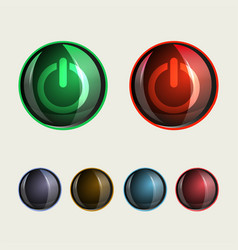 round buttons glass set vector image