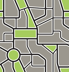 Seamless background of abstract city map vector image