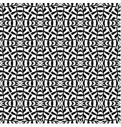 seamless geometry black and white pattern vector image