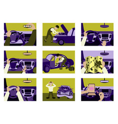 Set of car from inside vector