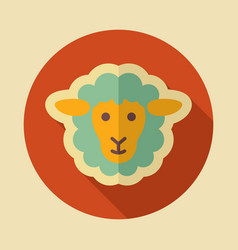 sheep icon animal head vector image