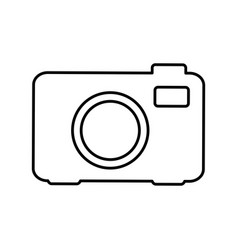 Silhouette camera photo icon vector