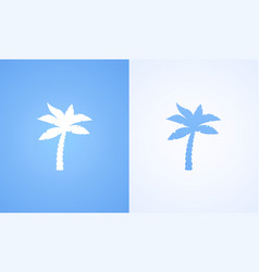 silhouette of coconut palm vector image