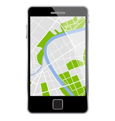 smartphone map vector image vector image