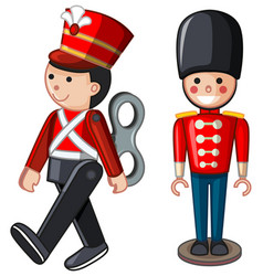 Soilder toys on white background vector