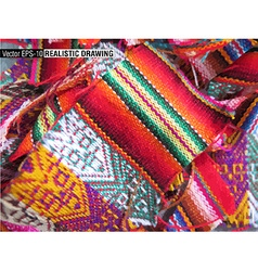 South America Indian woven fabrics vector