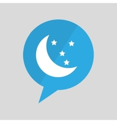 Symbol moon and star sleeps dreams design vector