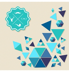 Unusual vintage Hipsters label icons geometric vector image vector image