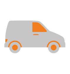 van vehicle isolated icon vector image