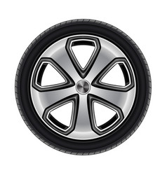 wheel or tire tyre car or automobile isolated vector image