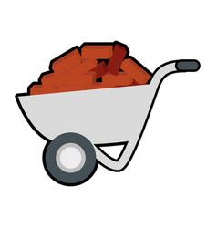 wheelbarrow tool icon vector image