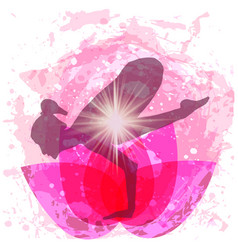 woman in pose yoga vector image