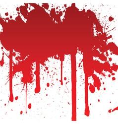 bloody splash vector image