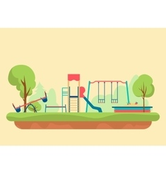 Kids playground flat style Set of design elements vector image