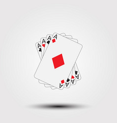 playing poker cards vector image