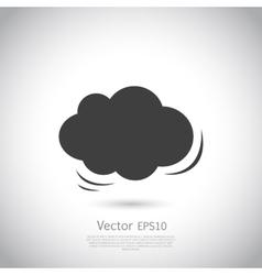 Cloud icon speech bubble vector image vector image
