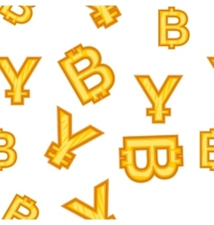 Currency signs pattern cartoon style vector image