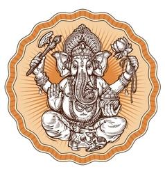 Ganesh Chaturthi hand-drawn sketch religious vector image