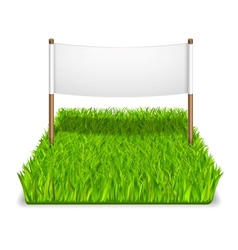 green grass sign vector image