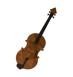 polygon texture violin icon vector image