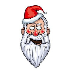 Santa claus flirting head vector