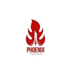 Stylized graphic phoenix bird resurrecting in vector image