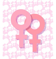 two female symbol vector image